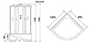Душевая кабина NG 7310-14 (R\L)
