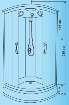 Душевая кабина ВМ-8825 B